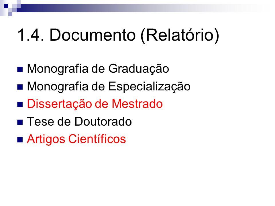 1.4. Documento (Relatório)