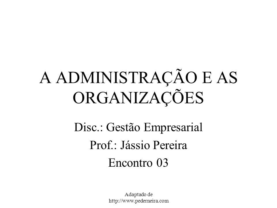A ADMINISTRAÇÃO E AS ORGANIZAÇÕES