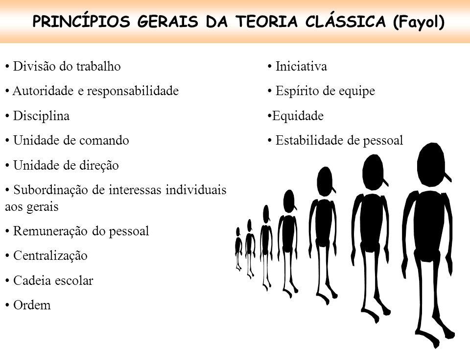 PRINCÍPIOS GERAIS DA TEORIA CLÁSSICA (Fayol)