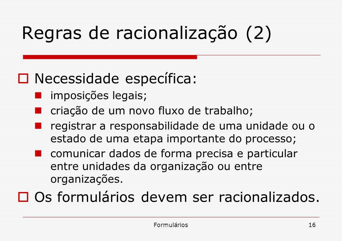 Regras de racionalização (2)