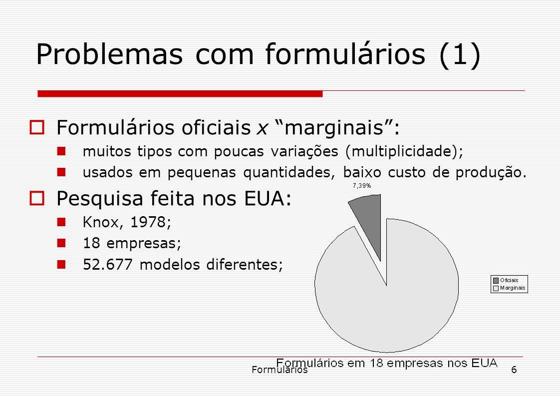 Problemas com formulários (1)