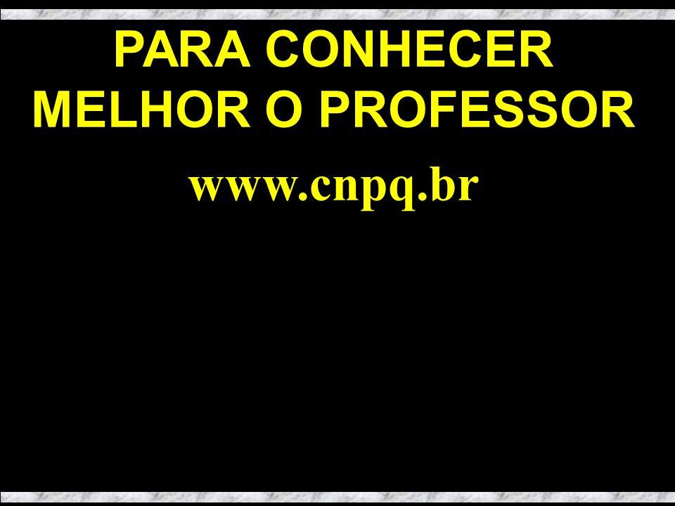 PARA CONHECER MELHOR O PROFESSOR