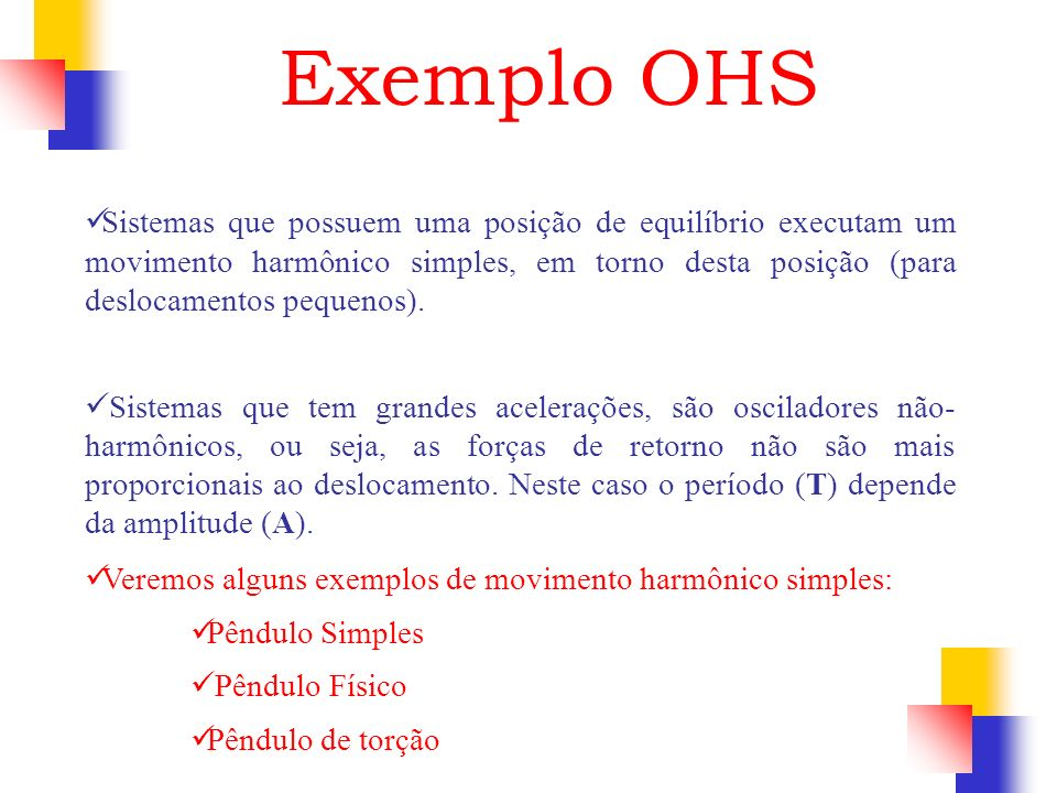Exemplo OHS