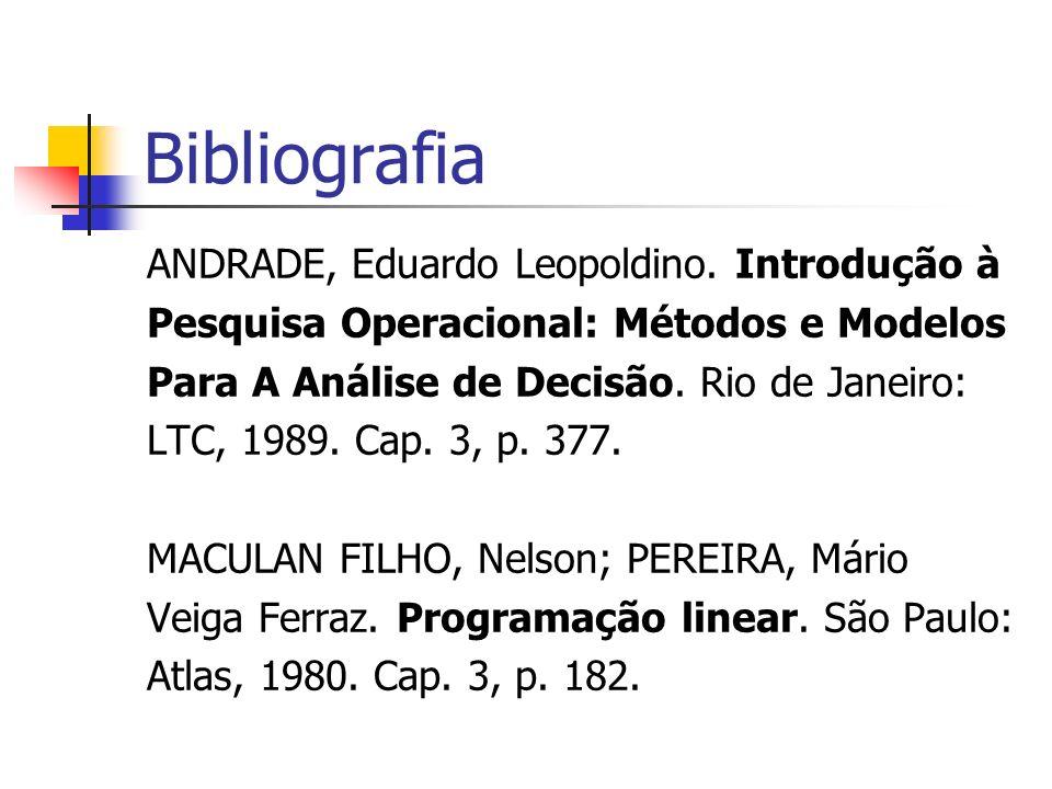 Bibliografia ANDRADE, Eduardo Leopoldino. Introdução à