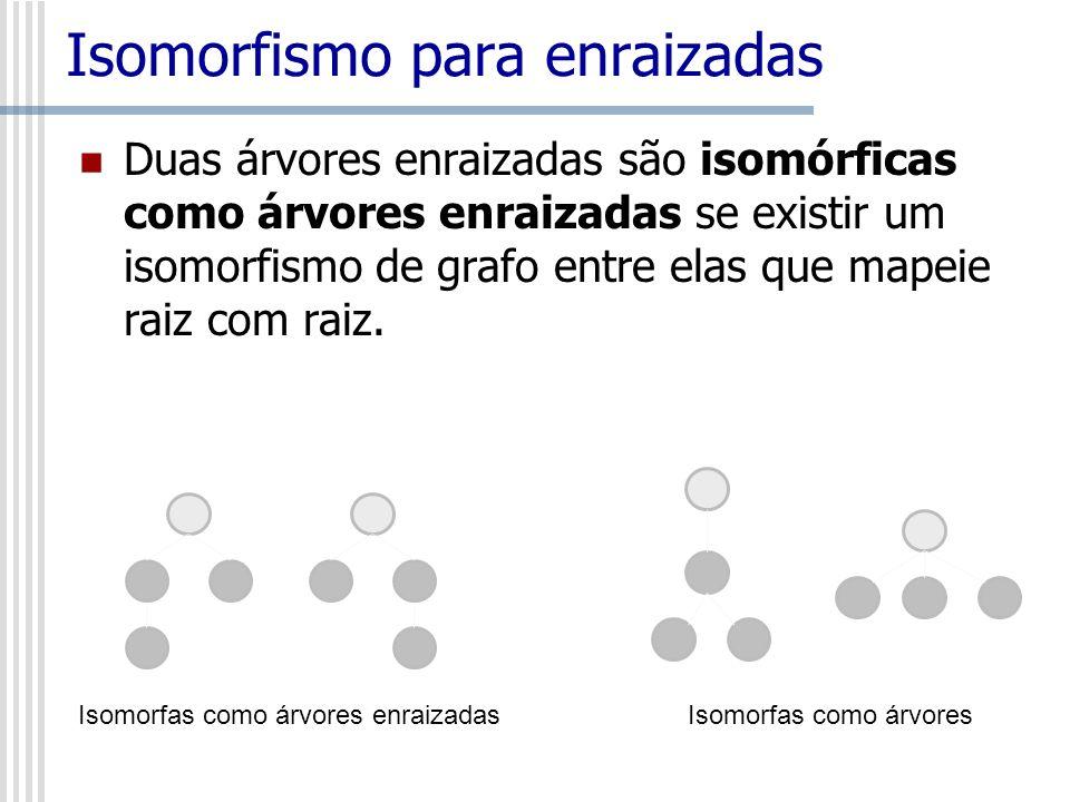 Isomorfismo para enraizadas