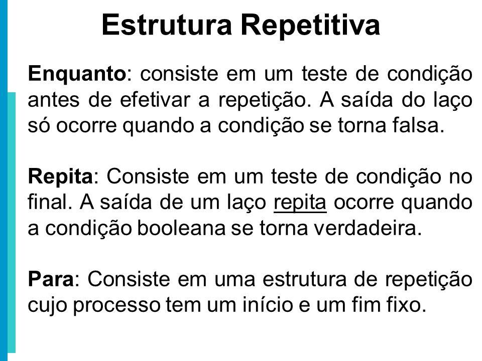 Estrutura Repetitiva