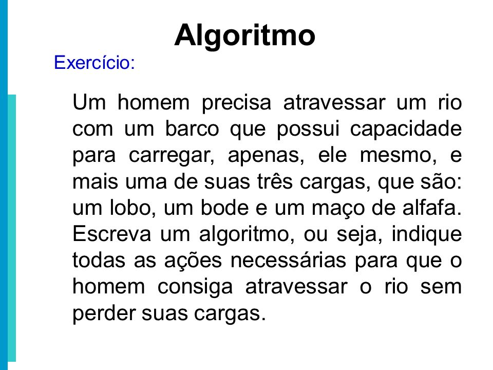 Algoritmo Exercício: