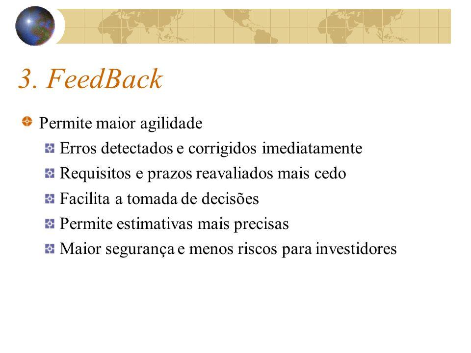3. FeedBack Permite maior agilidade