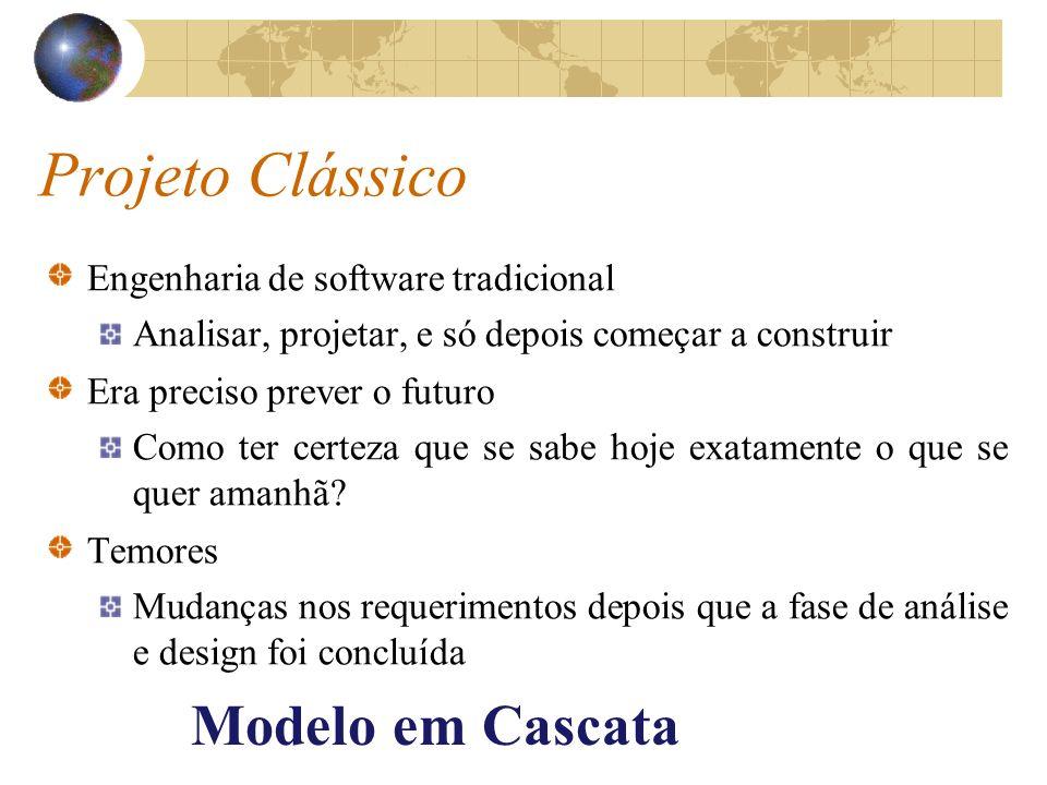 Projeto Clássico Modelo em Cascata Engenharia de software tradicional