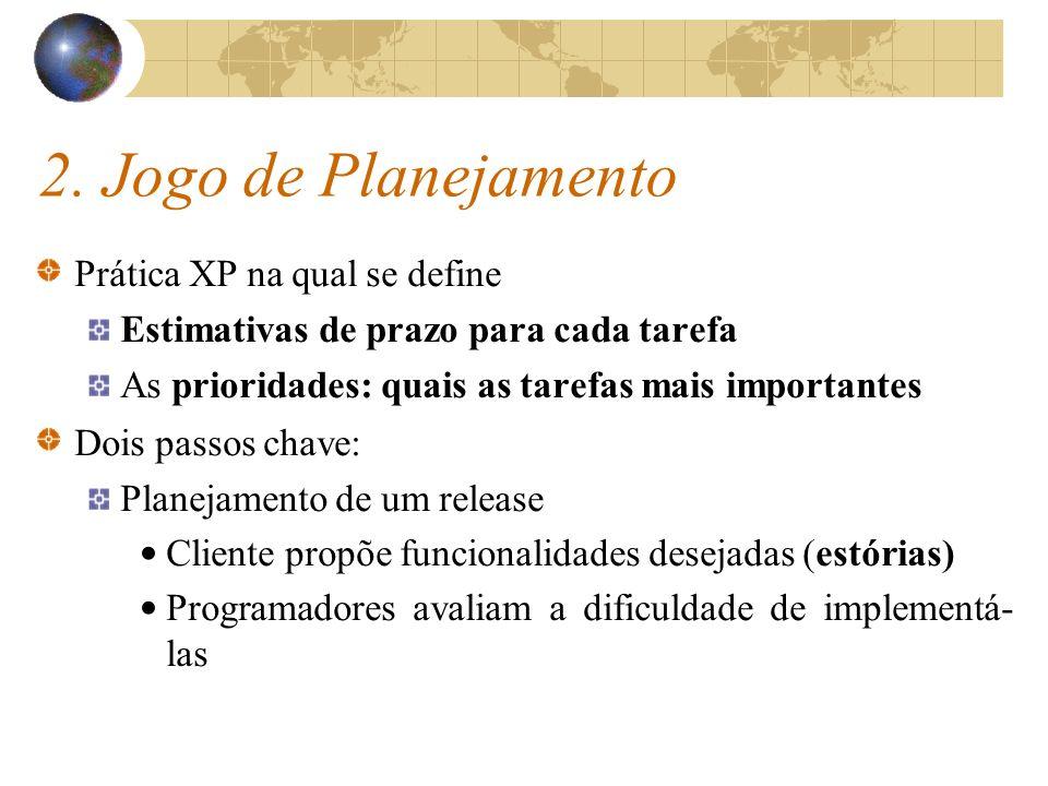 2. Jogo de Planejamento Prática XP na qual se define