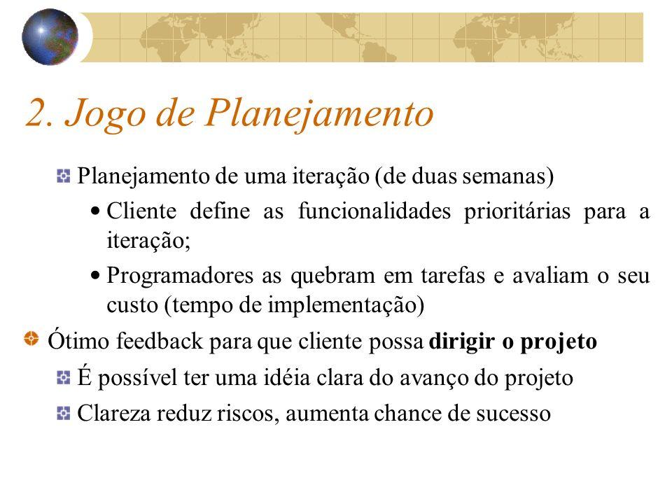 2. Jogo de Planejamento Planejamento de uma iteração (de duas semanas)