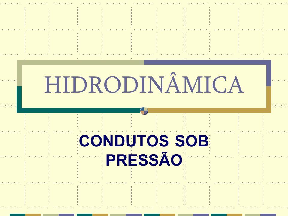 HIDRODINÂMICA CONDUTOS SOB PRESSÃO