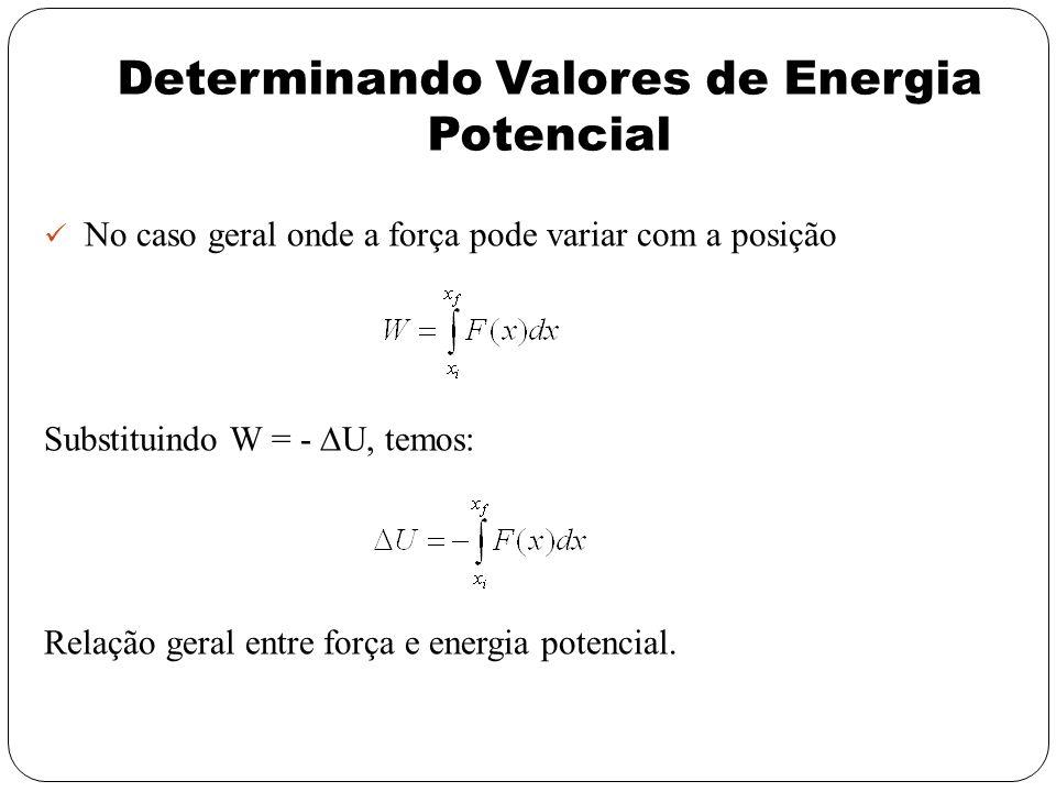 Determinando Valores de Energia Potencial