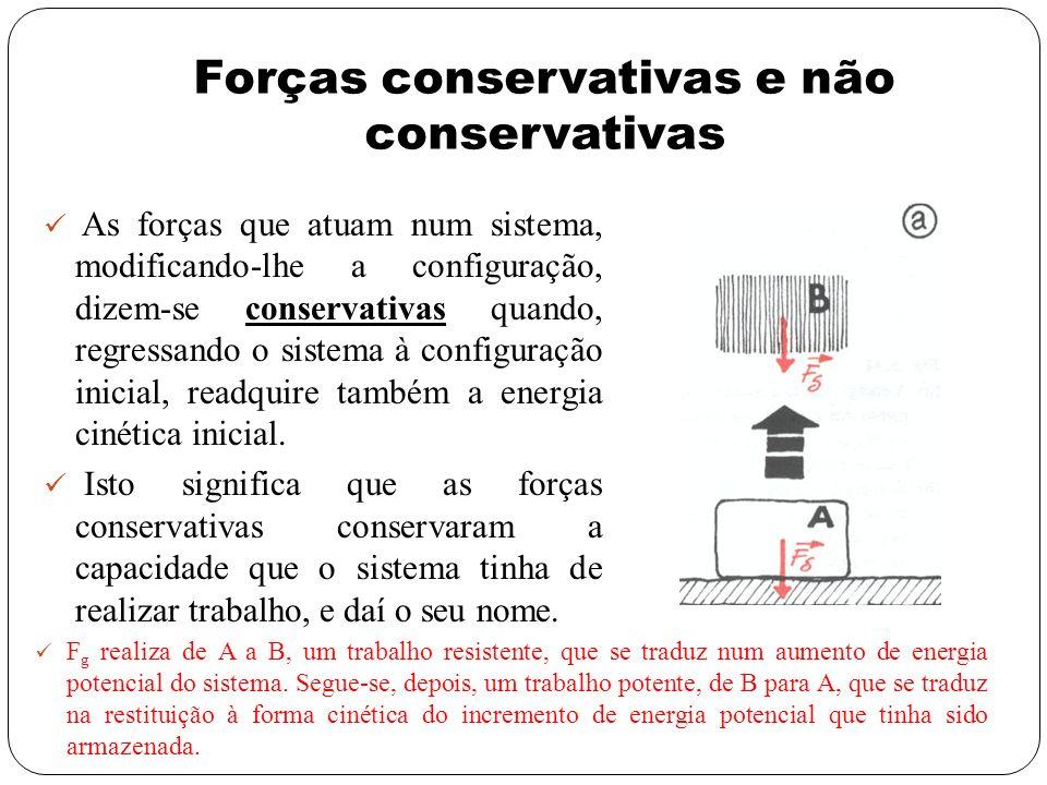 Forças conservativas e não conservativas