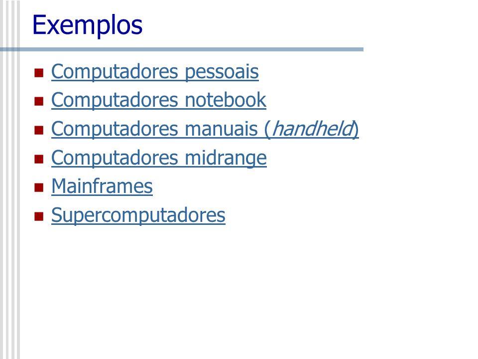 Exemplos Computadores pessoais Computadores notebook