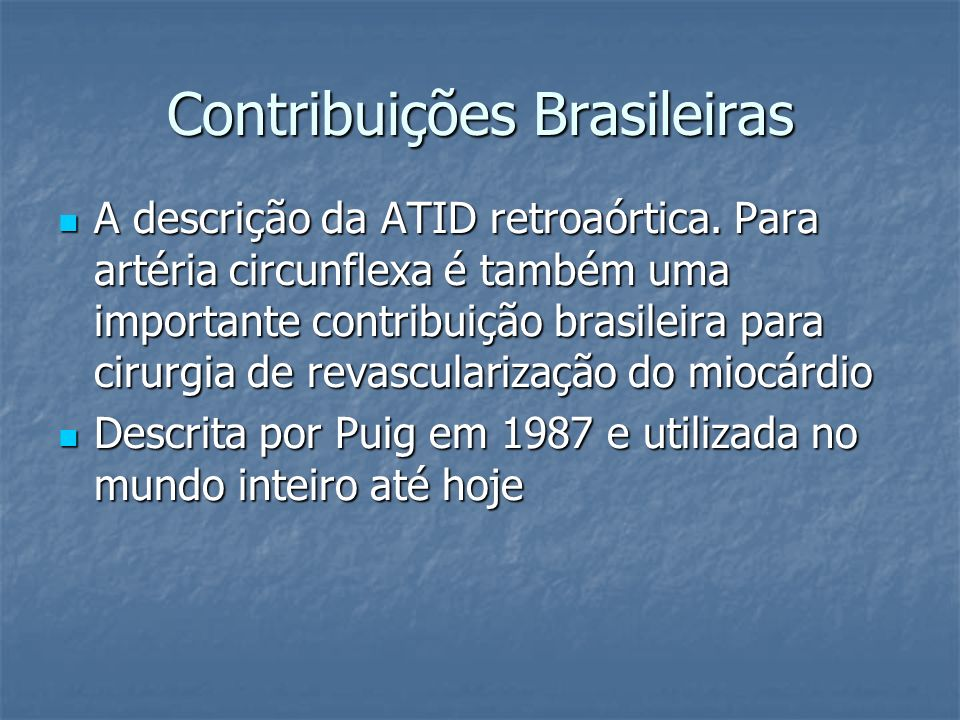 Contribuições Brasileiras