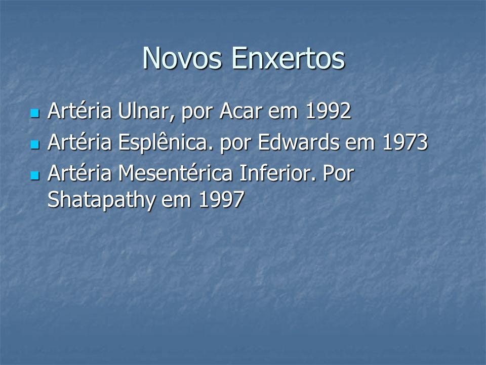 Novos Enxertos Artéria Ulnar, por Acar em 1992