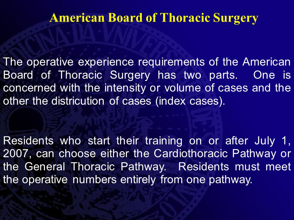 American Board of Thoracic Surgery