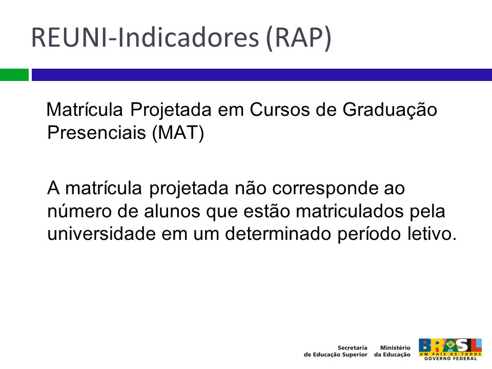 REUNI-Indicadores (RAP)