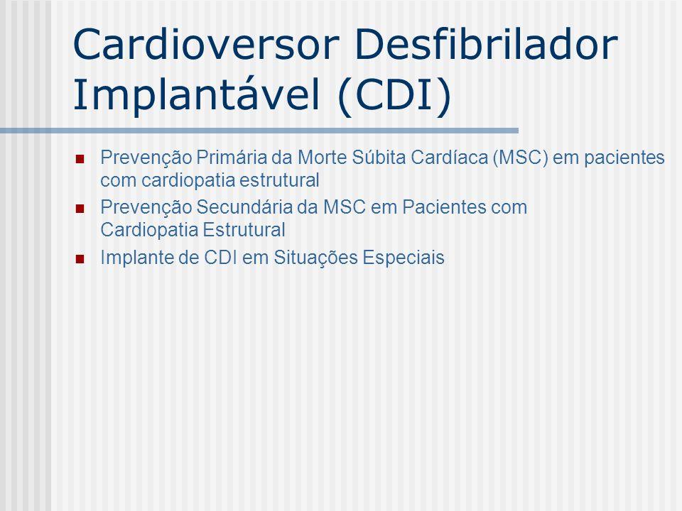 Cardioversor Desfibrilador Implantável (CDI)