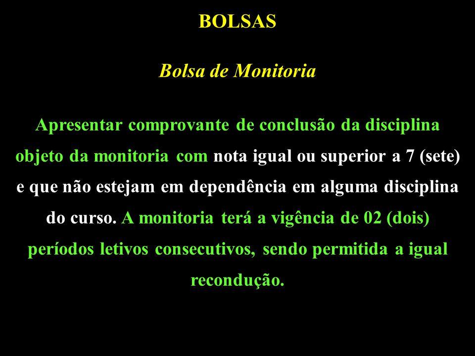 BOLSAS Bolsa de Monitoria