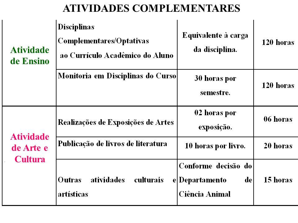 ATIVIDADES COMPLEMENTARES Atividade de Arte e Cultura