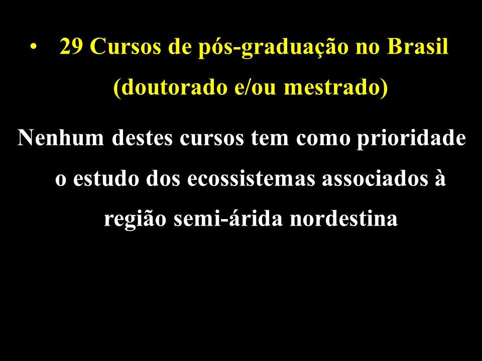 29 Cursos de pós-graduação no Brasil (doutorado e/ou mestrado)