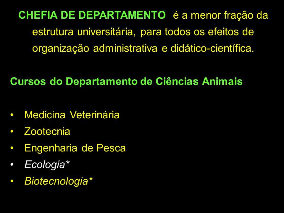 CHEFIA DE DEPARTAMENTO: é a menor fração da