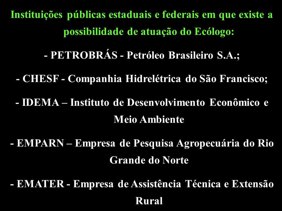 - PETROBRÁS - Petróleo Brasileiro S.A.;
