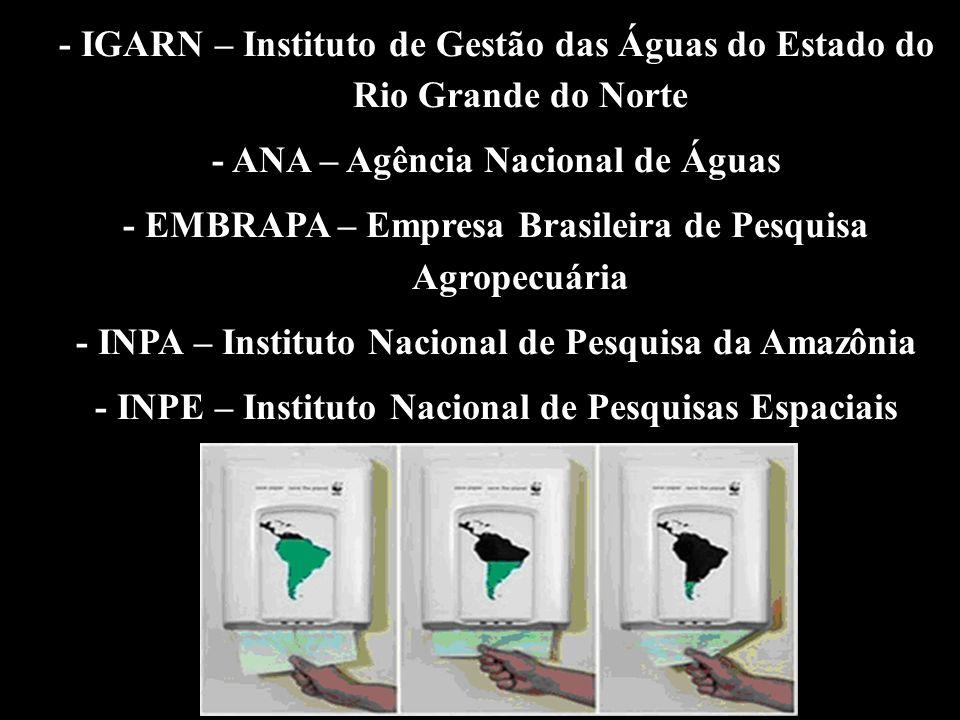 - ANA – Agência Nacional de Águas