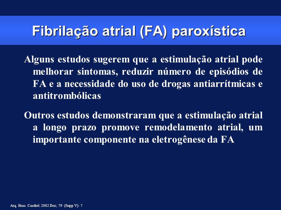 Fibrilação atrial (FA) paroxística