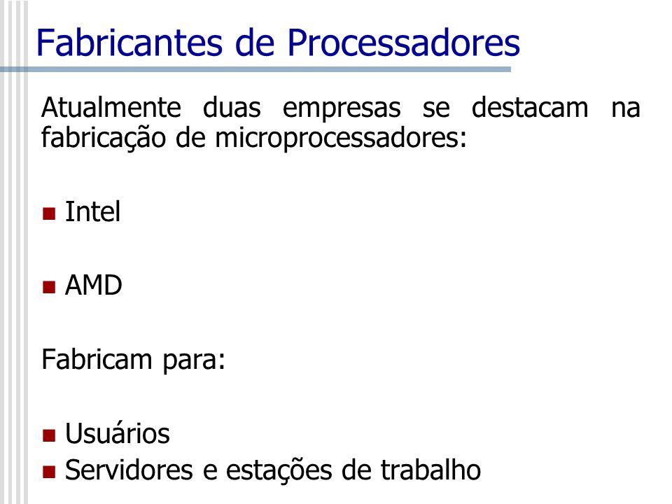 Fabricantes de Processadores