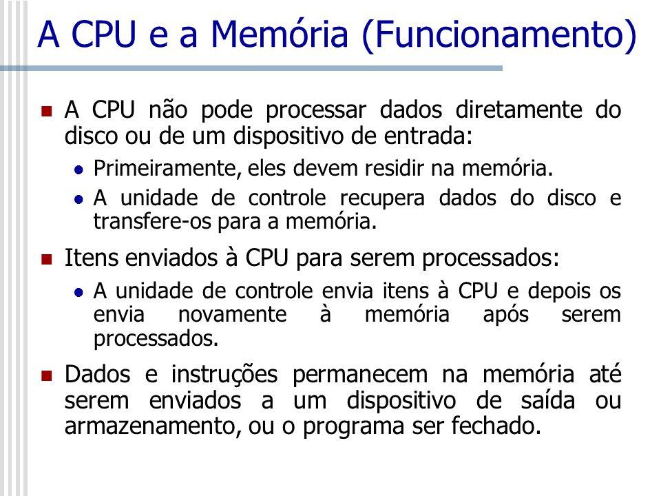 A CPU e a Memória (Funcionamento)
