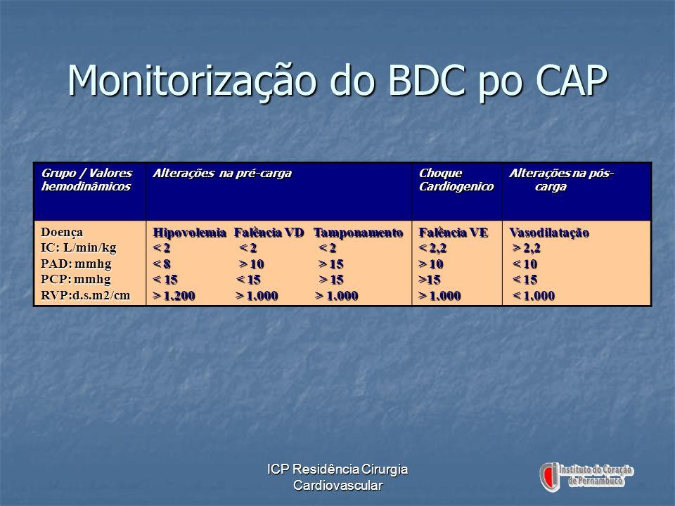 Monitorização do BDC po CAP