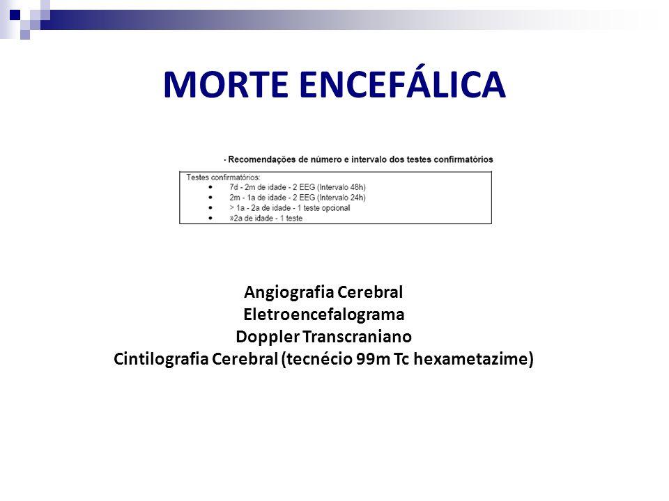 MORTE ENCEFÁLICA Angiografia Cerebral Eletroencefalograma