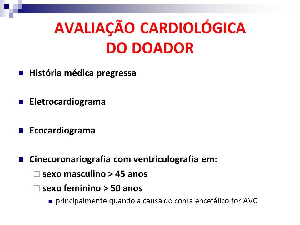 AVALIAÇÃO CARDIOLÓGICA DO DOADOR