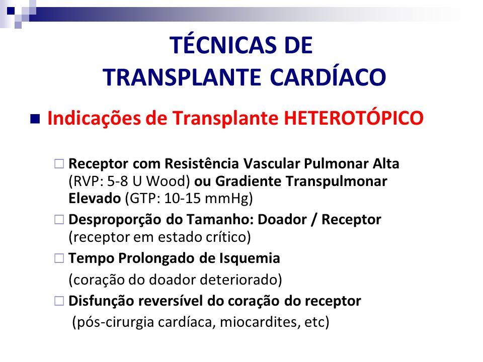 TÉCNICAS DE TRANSPLANTE CARDÍACO