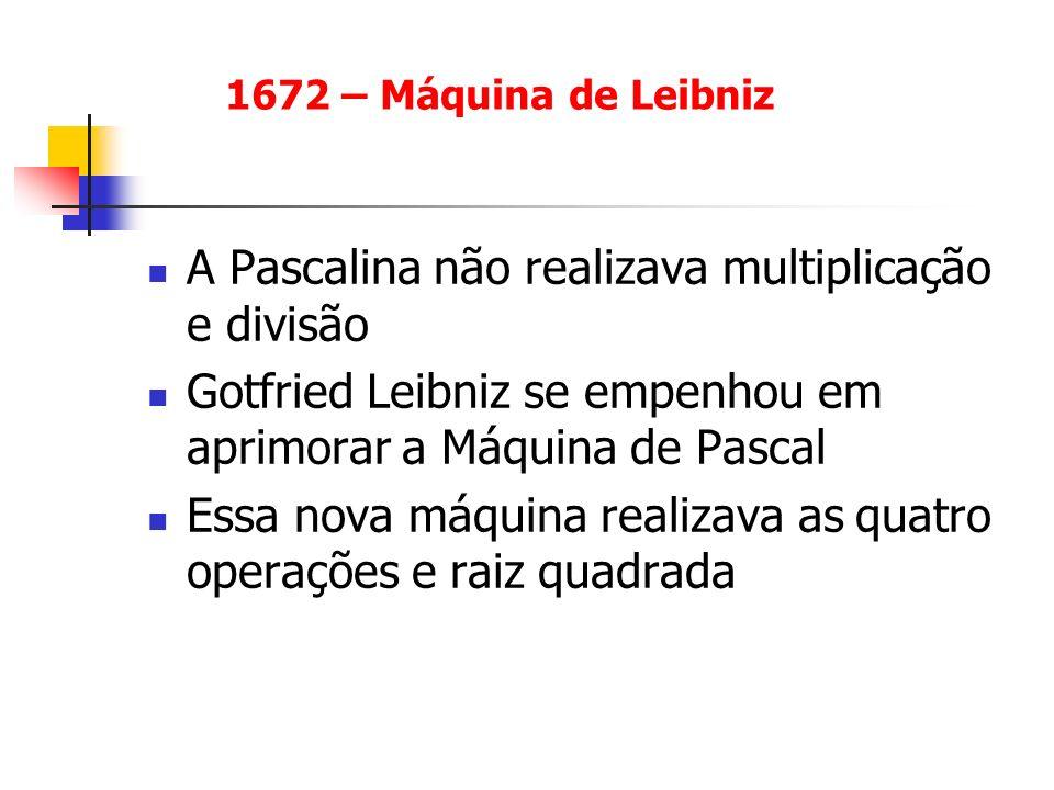 A Pascalina não realizava multiplicação e divisão