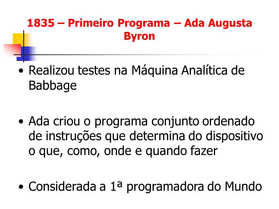 1835 – Primeiro Programa – Ada Augusta Byron