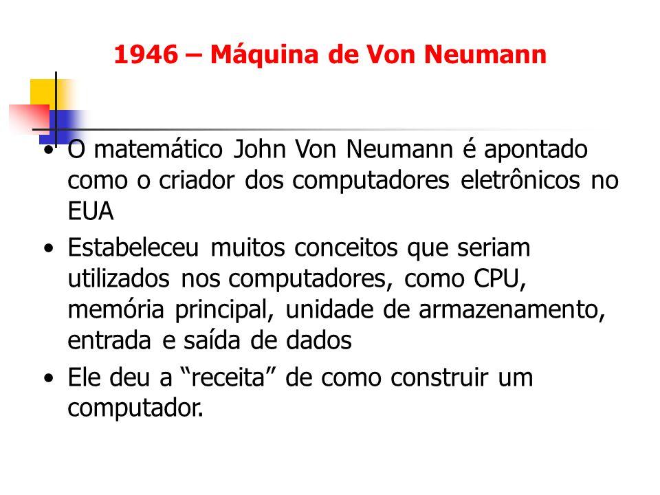 1946 – Máquina de Von Neumann