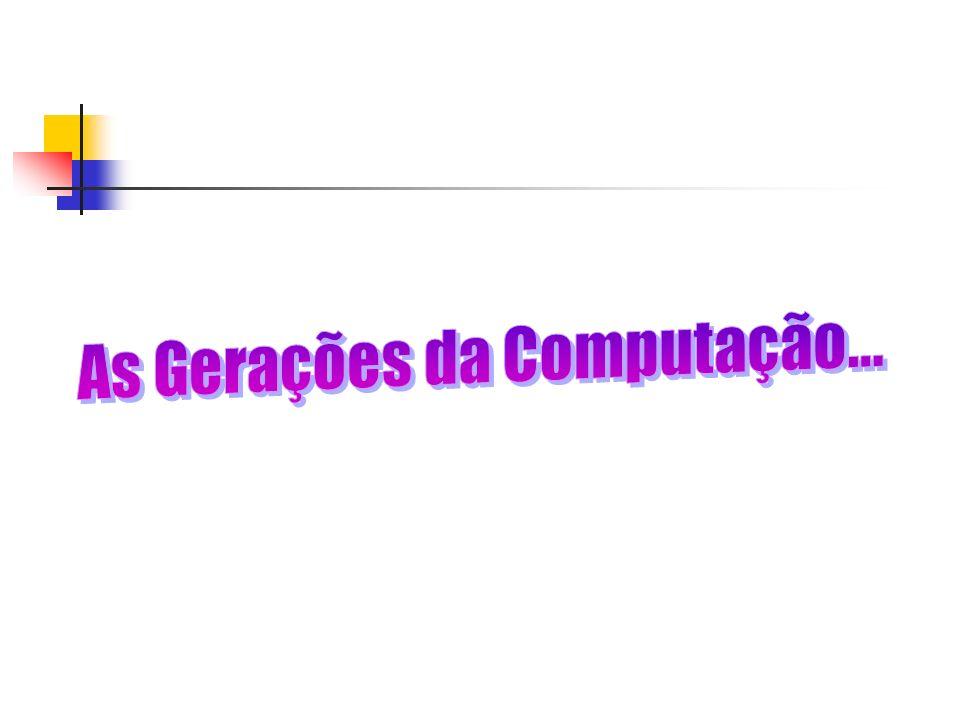 As Gerações da Computação...