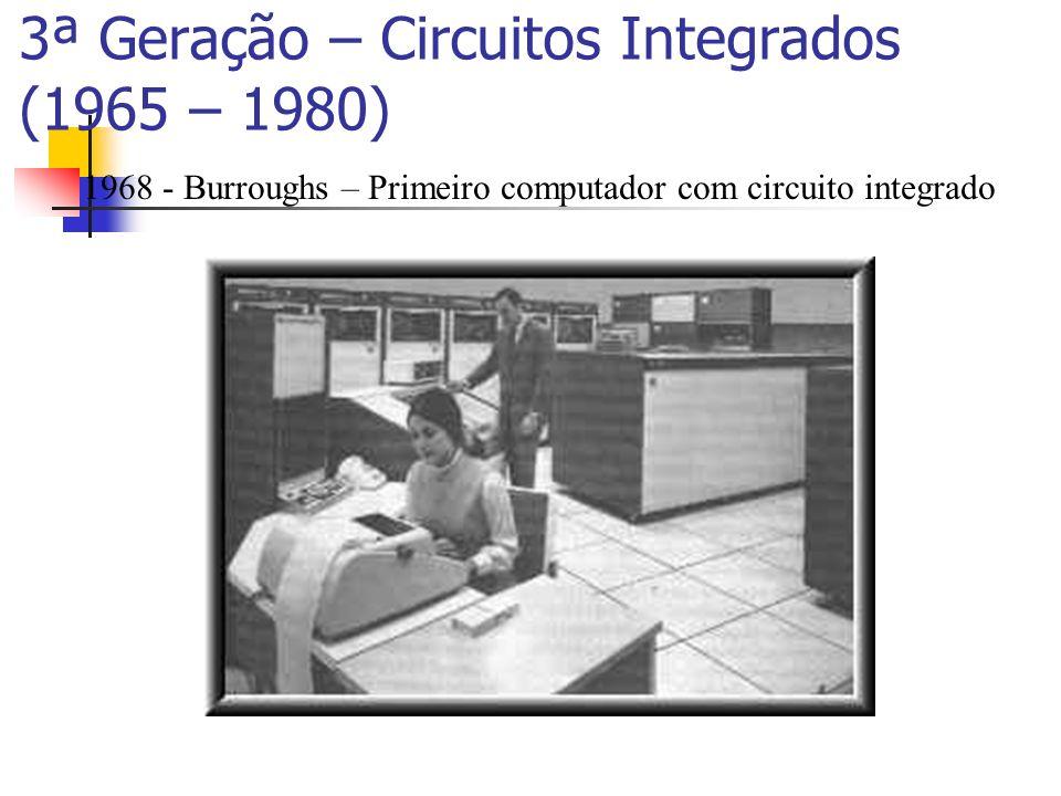 3ª Geração – Circuitos Integrados (1965 – 1980)