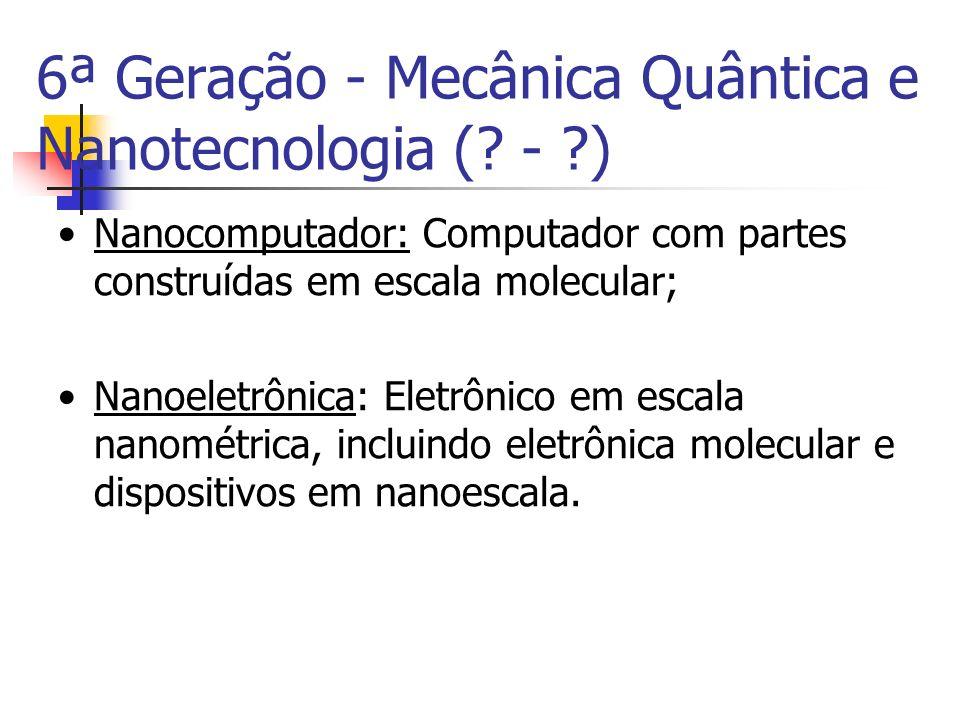 6ª Geração - Mecânica Quântica e Nanotecnologia ( - )