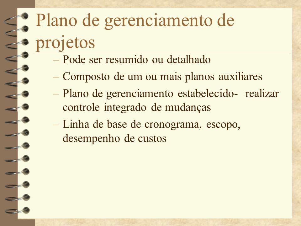Plano de gerenciamento de projetos