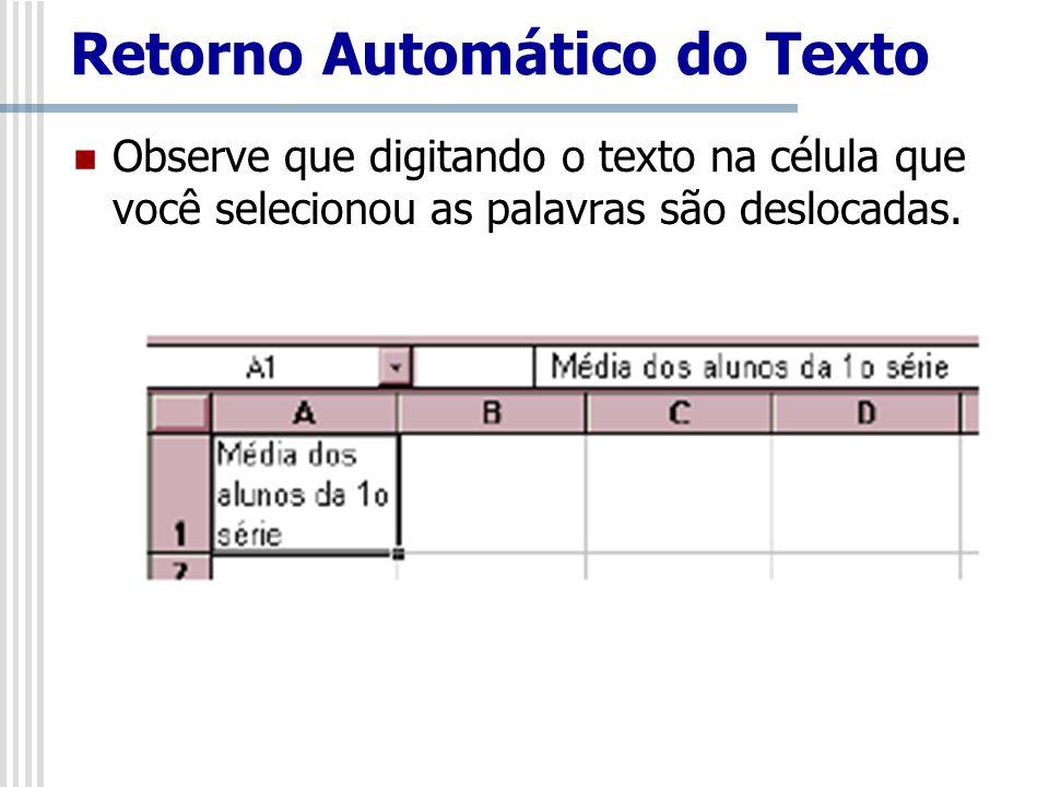 Retorno Automático do Texto