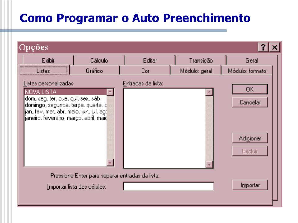 Como Programar o Auto Preenchimento