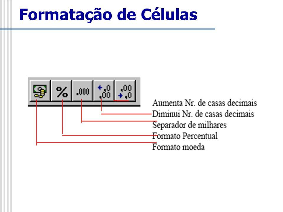 Formatação de Células