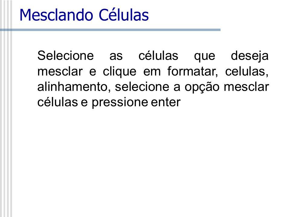 Mesclando Células