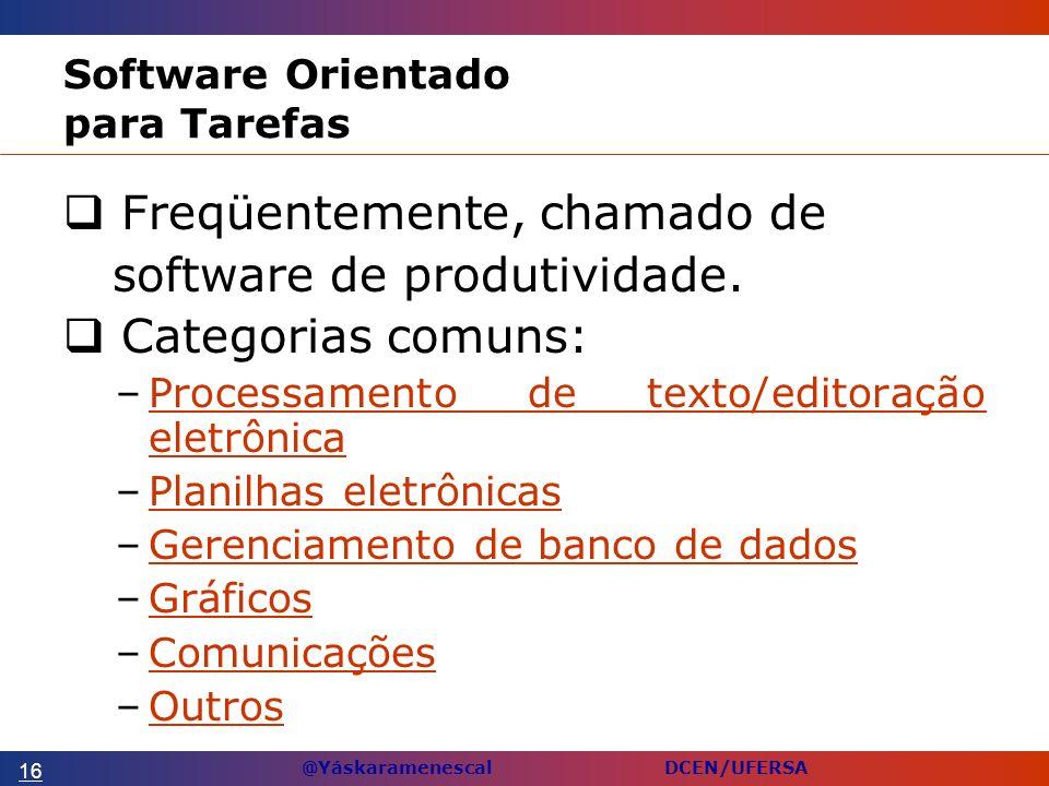 Software Orientado para Tarefas