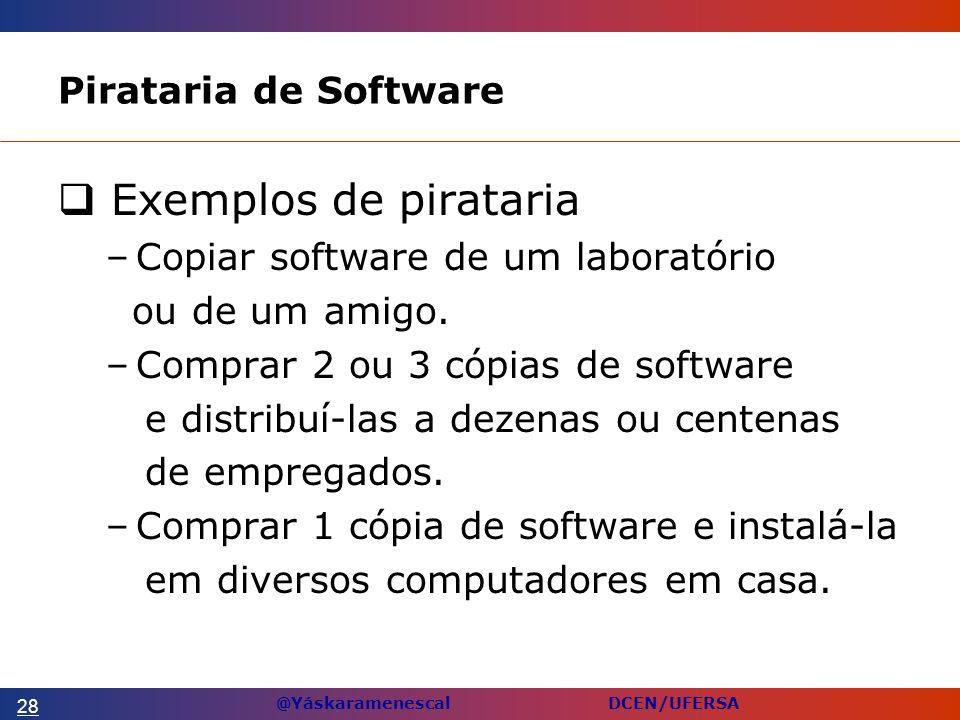 Exemplos de pirataria Pirataria de Software